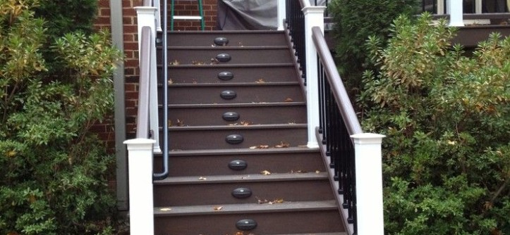 Timbertech for a Traditional Porch with a Xlm and Reeds Landing Deck Rebuild with TimberTech XLM by Paragon Construction Company LLC