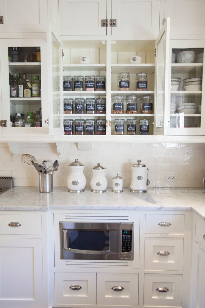 Tool Rental Lowes for a Traditional Kitchen with a Glass Front Cabinets and Kitchen Organization by Neat Method San Diego