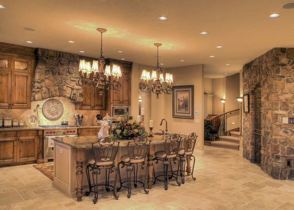 Tradewinds Furniture for a Mediterranean Kitchen with a Mediterranean and Eagle, Idaho Custom Home by Tradewinds General Contracting, Inc.