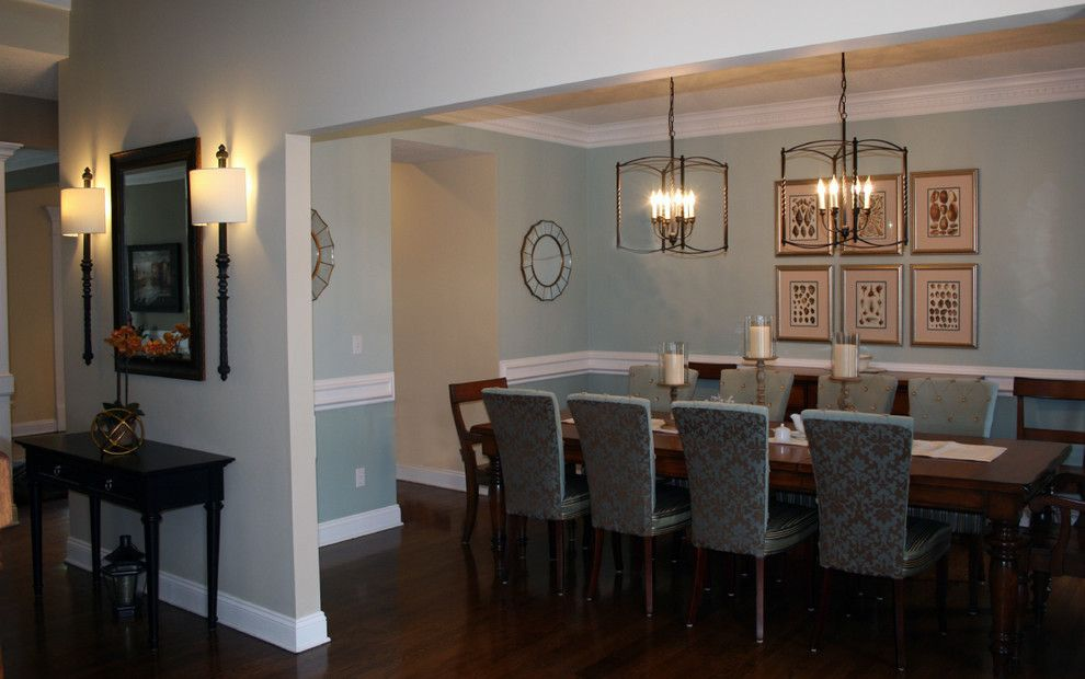 Tradewinds Furniture for a Traditional Dining Room with a Rought Iron Pendants and a Fresh Approach to a Traditional Dining Room by Nichole Staker Design