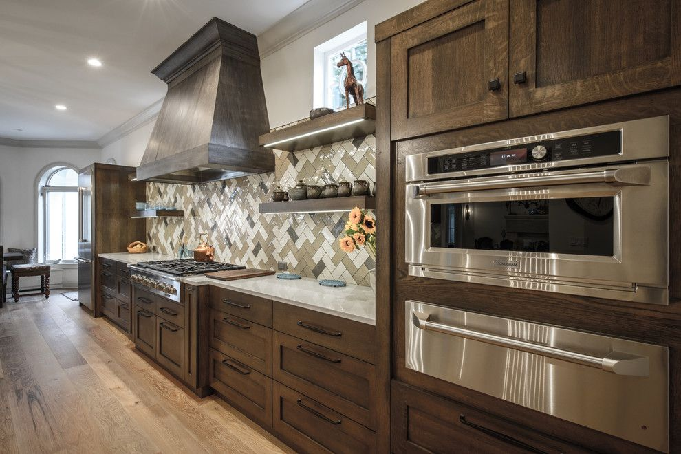 Trash Chute for a Transitional Spaces with a Trash Chute in Top and Epping Forest Kitchen by Beaches Woodcrafts