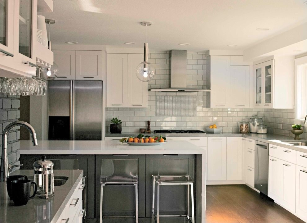 Treehouse Austin for a Contemporary Kitchen with a White Countertop and Zephyr by Zephyr Ventilation