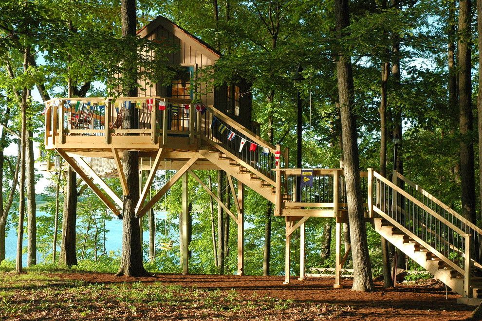 Treehouse Designs for a Rustic Kids with a Crows Nest and Indianapolis, in Treehouse by Tree Top Builders