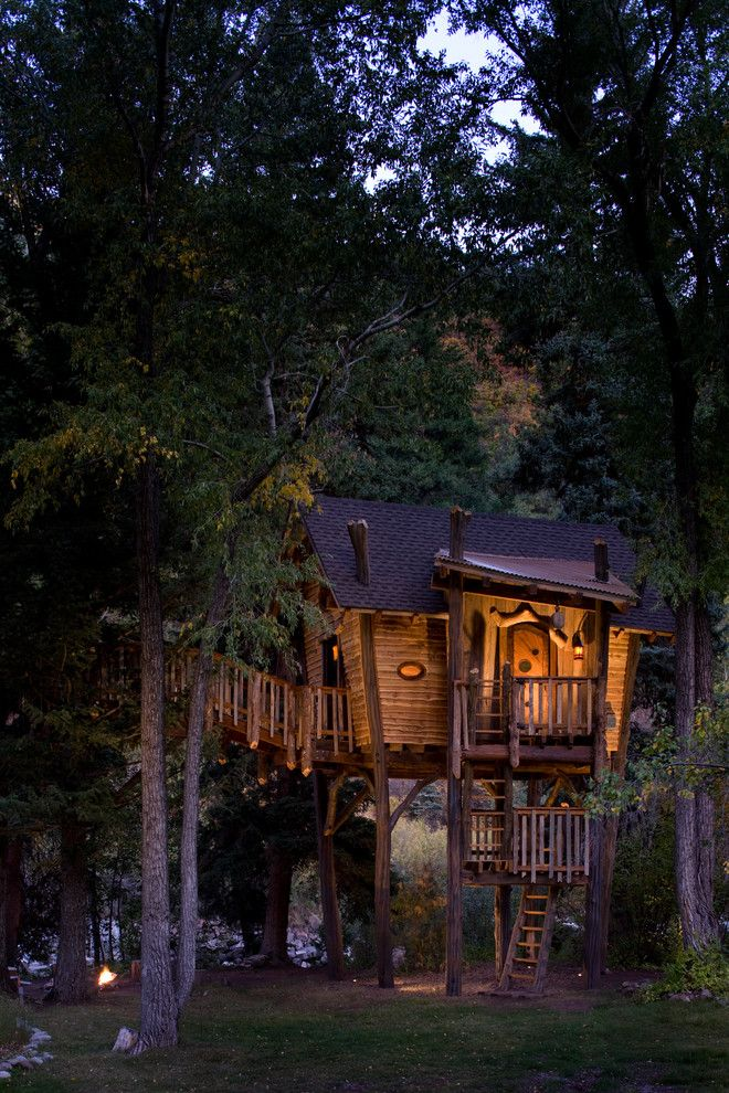 Treehouse Designs for a Rustic Kids with a Tree House and Crystal River Tree House by Green Line Architects