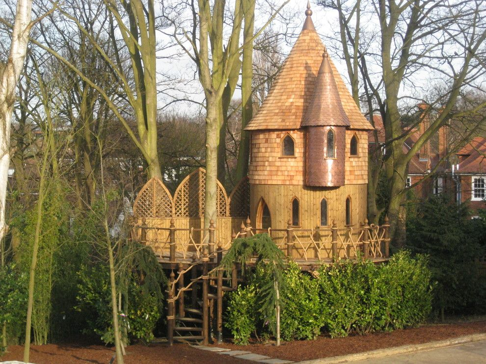 Treehouse Designs for a  Shed with a Stunning Treehouse and Treehouses by High Life Treehouses
