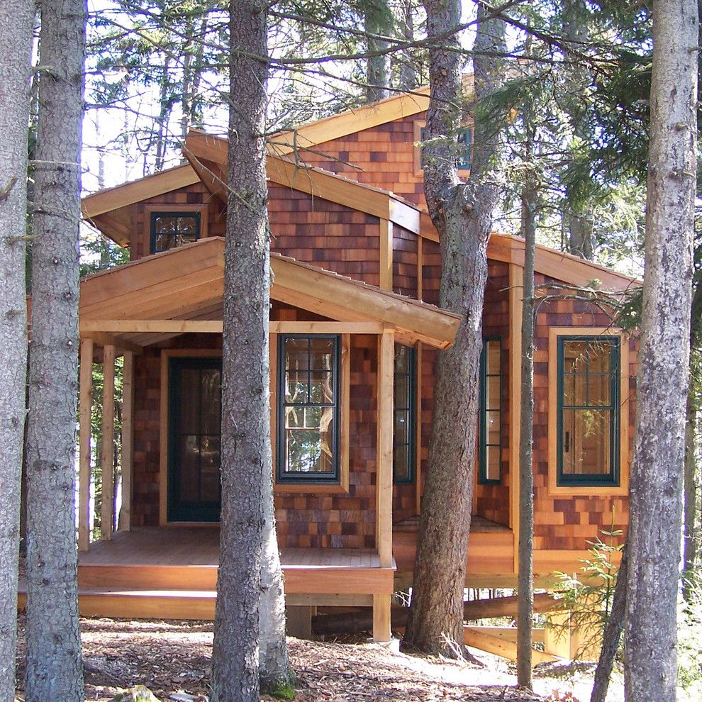 Treehouse Designs for a Traditional Exterior with a Treehouse and Island Treehouse by David Matero Architecture