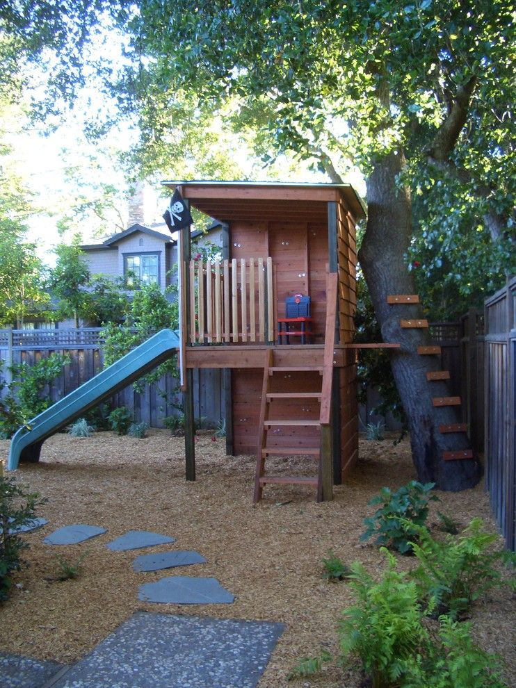 Treehouse Designs for a Traditional Kids with a Path and Childrens Play by Keith Willig Landscape Services, Inc.