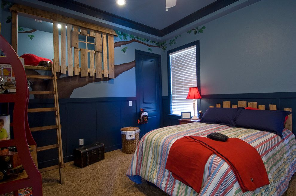 Treehouse Designs for a Traditional Kids with a White Table Lamp and Lake Keystone Estate by Gray Family Homes