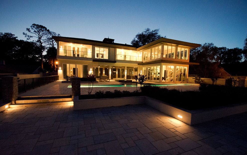 Tremron Pavers for a Contemporary Exterior with a Contemporary Exterior and Contemporary Riverfront Home by Forever Homes