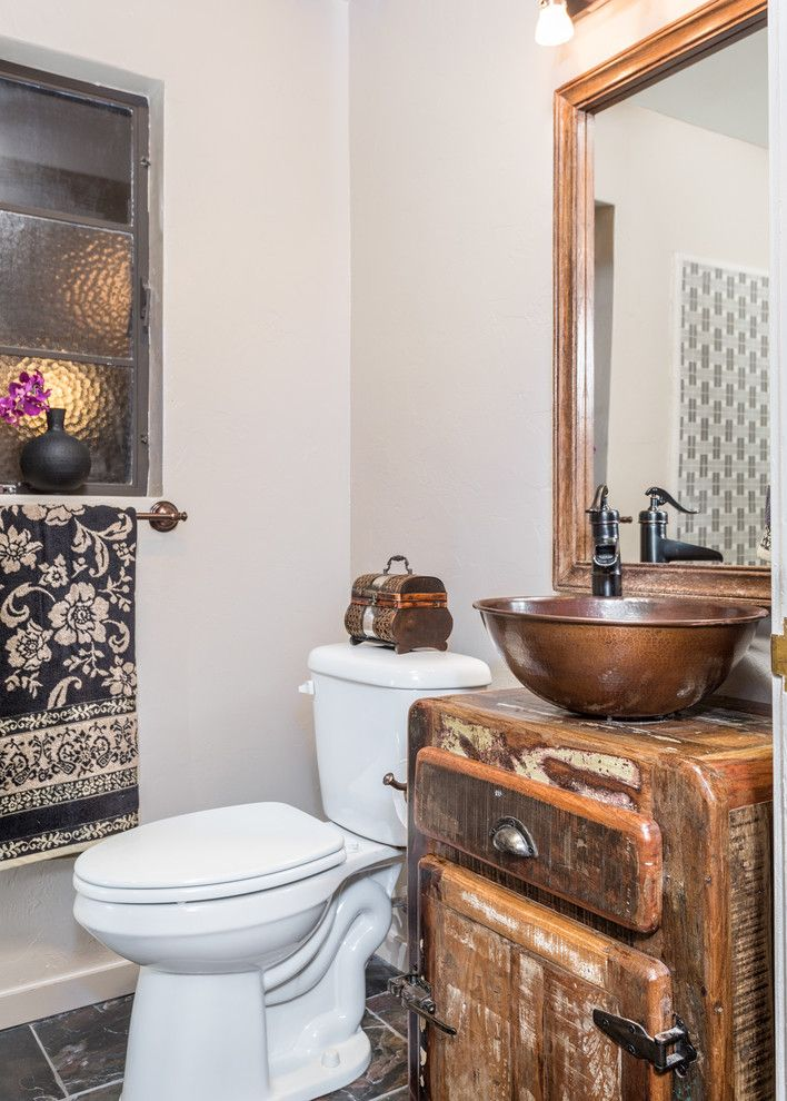 Tres Amigos Tucson for a Southwestern Bathroom with a Industrial Rustic Bathroom Vanity and 140 North Wilson by Tres Amigos Furniture and Accessories