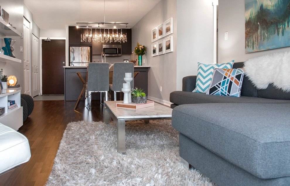 Tribeca Salon for a Contemporary Living Room with a My Houzz and Timeless with a Modern Edge by Heather Merenda