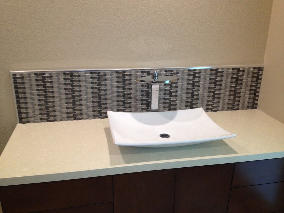 Triton Granite for a Transitional Bathroom with a Porcelain and Nice N' Neutral by Triton Tile, Inc.