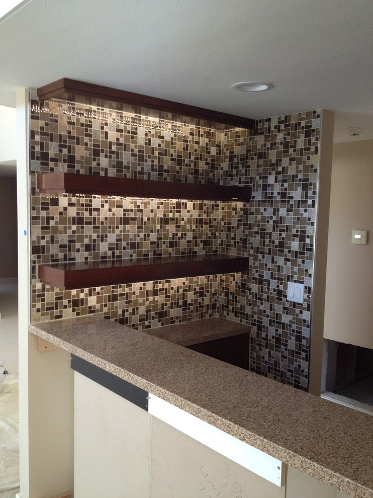 Triton Granite for a Transitional Kitchen with a Brown and Nice N' Neutral by Triton Tile, Inc.