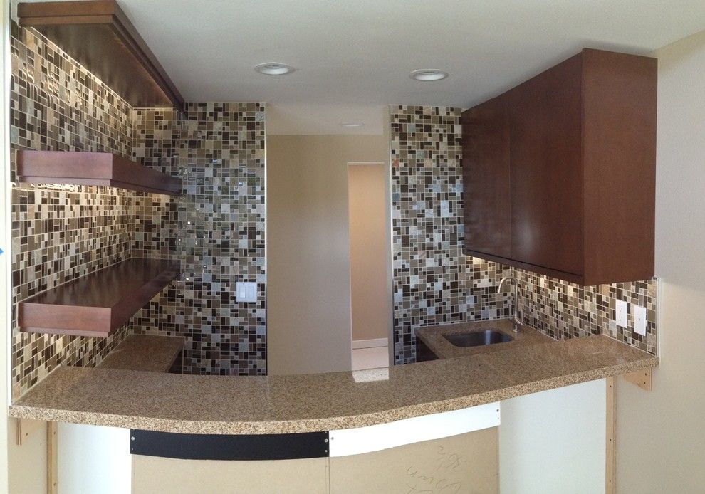 Triton Granite for a Transitional Kitchen with a Cherry Wood and Nice N' Neutral by Triton Tile, Inc.