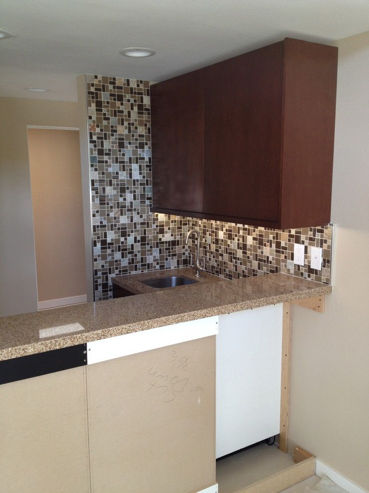 Triton Granite for a Transitional Kitchen with a Marble and Nice N' Neutral by Triton Tile, Inc.