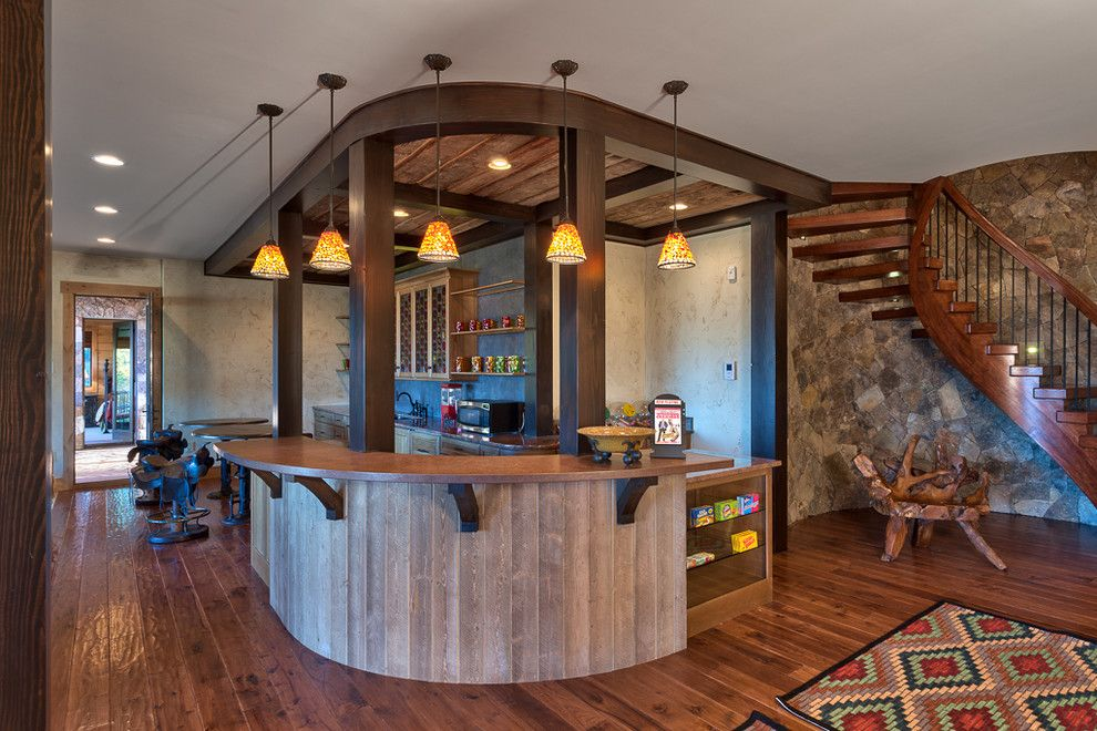 True Homes Charlotte Nc For A Transitional Home Bar With A