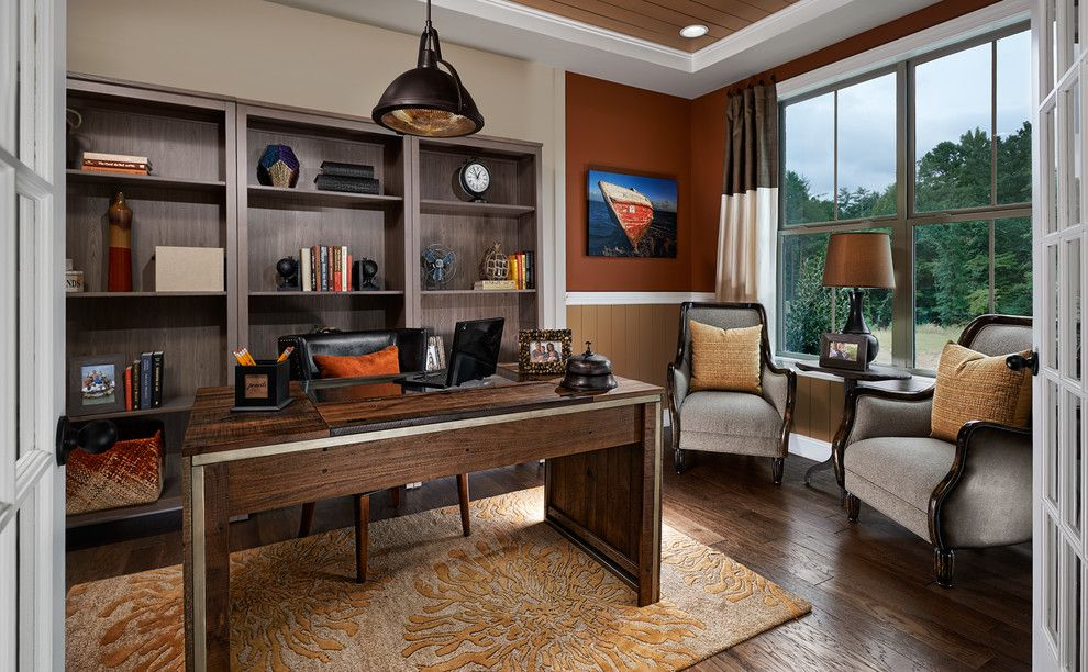 True Homes Charlotte Nc for a Traditional Home Office with a Armchairs and Franklin Plan at Lake Ridge at Tega Cay | Charlotte, Nc by Meritage Homes