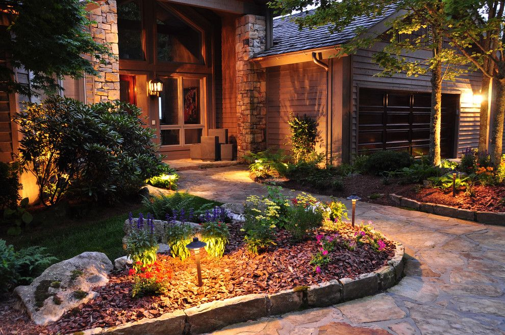 True Homes Charlotte Nc for a Traditional Landscape with a Planter Edge Design and a Mountain Landscape by J'nell Bryson Landscape Architecture