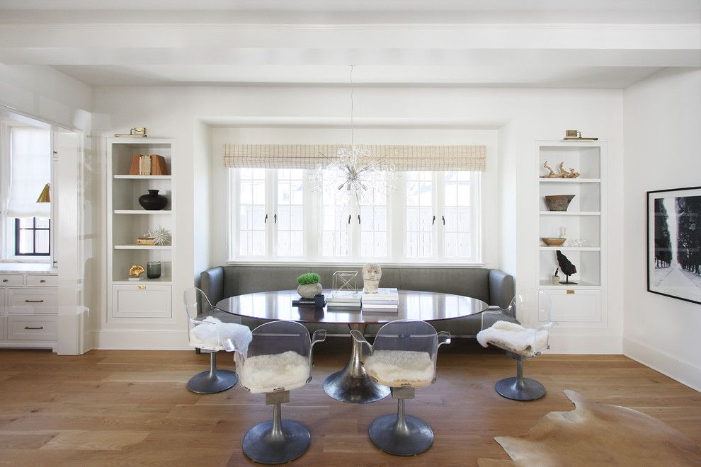 True Homes Charlotte Nc for a Transitional Dining Room with a Roman Shade and Charlotte Nc  Breakfast Area by Lisa Sherry Interieurs