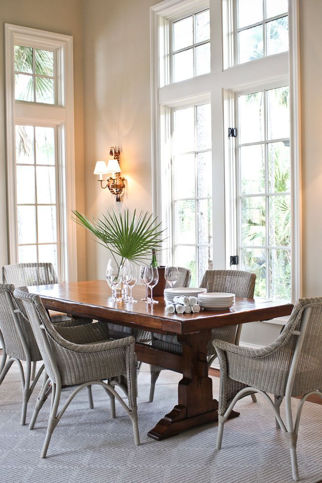 Trulia Charleston Sc for a Beach Style Dining Room with a Sconce and Kiawah Family Home by Margaret Donaldson Interiors