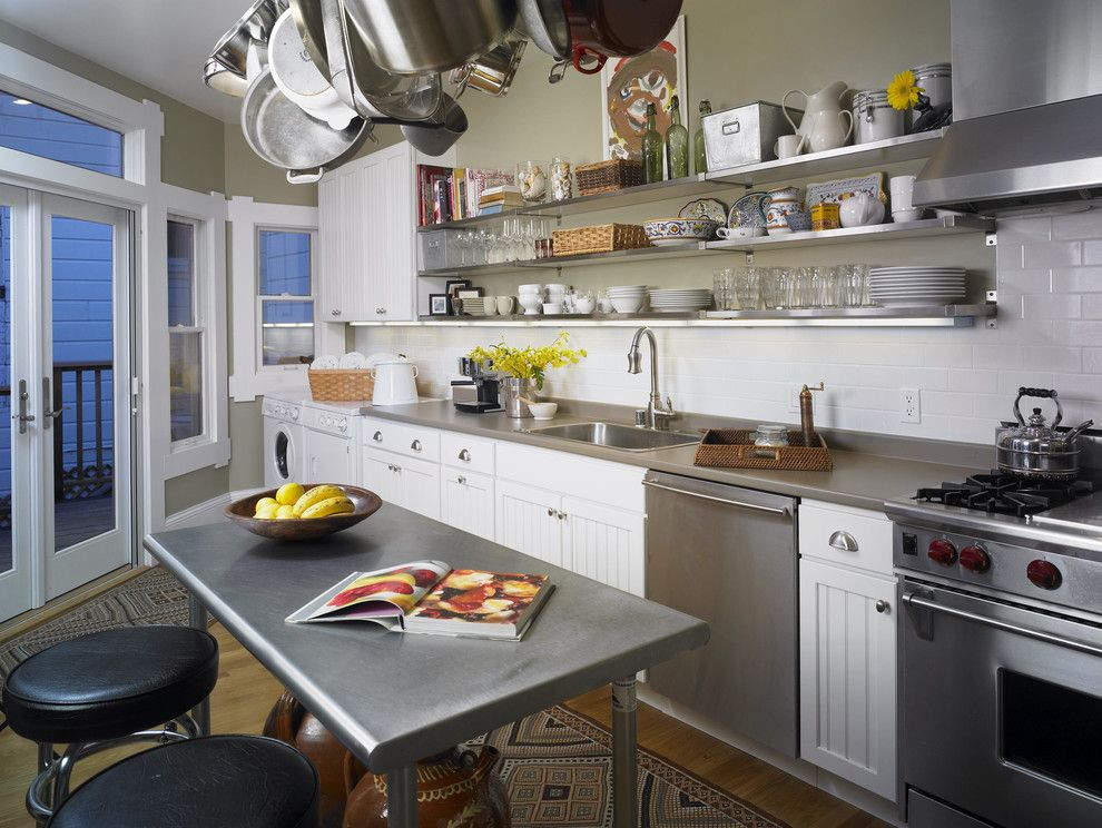 Trulia San Francisco for a Eclectic Kitchen with a Round Stool and San Francisco Apartment by Carolyn Rebuffel Designs