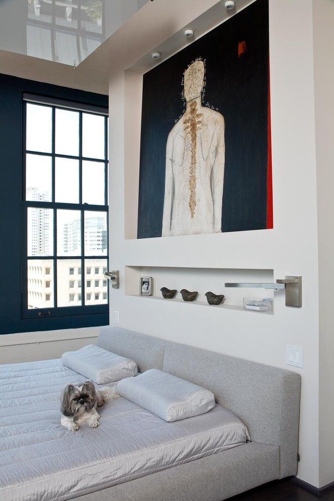 Trulia San Francisco for a Modern Bedroom with a Hillsborough and San Francisco Downtown Loft by Applegate Tran Interiors