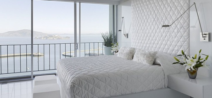 Trulia San Francisco for a Modern Bedroom with a Swing Arm Lamp and Fontana Interior by Mark English Architects, AIA