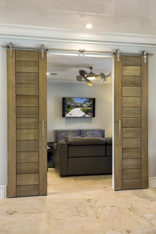 Trustile Doors for a Modern Family Room with a French Doors and a Modern Reno in Vero Beach by Trustile Doors