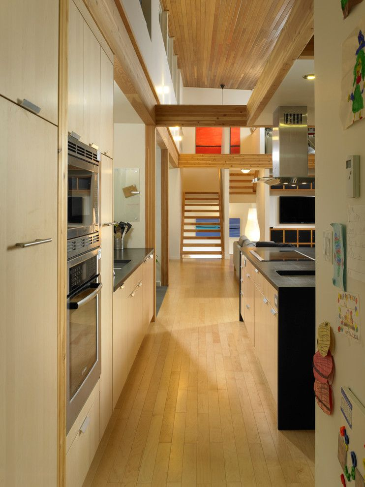 Turkel Design for a Contemporary Kitchen with a Cedar and Turkel Design for Lindal Cedar Homes 70626 by Lindal Cedar Homes