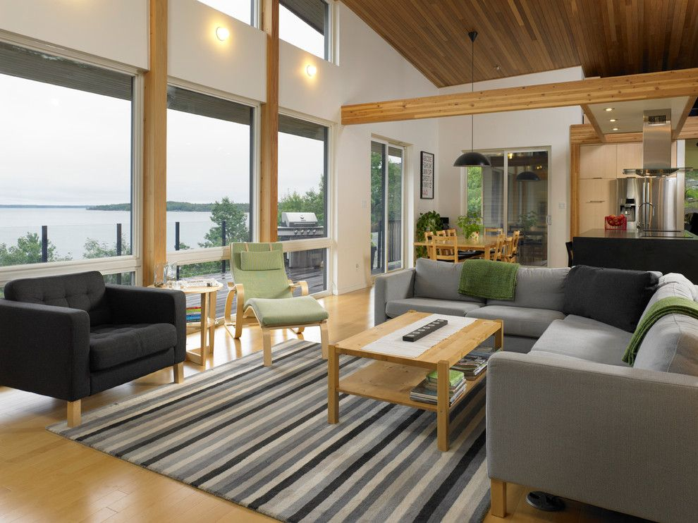 Turkel Design for a Contemporary Living Room with a Modern Interior and Turkel Design for Lindal Cedar Homes 70626 by Lindal Cedar Homes
