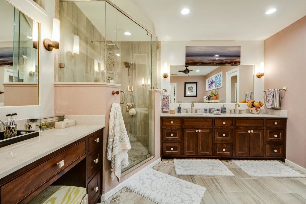 Turnstyle for a Contemporary Spaces with a Clean and Restful Retreat Master Bath by Turnstyle Design