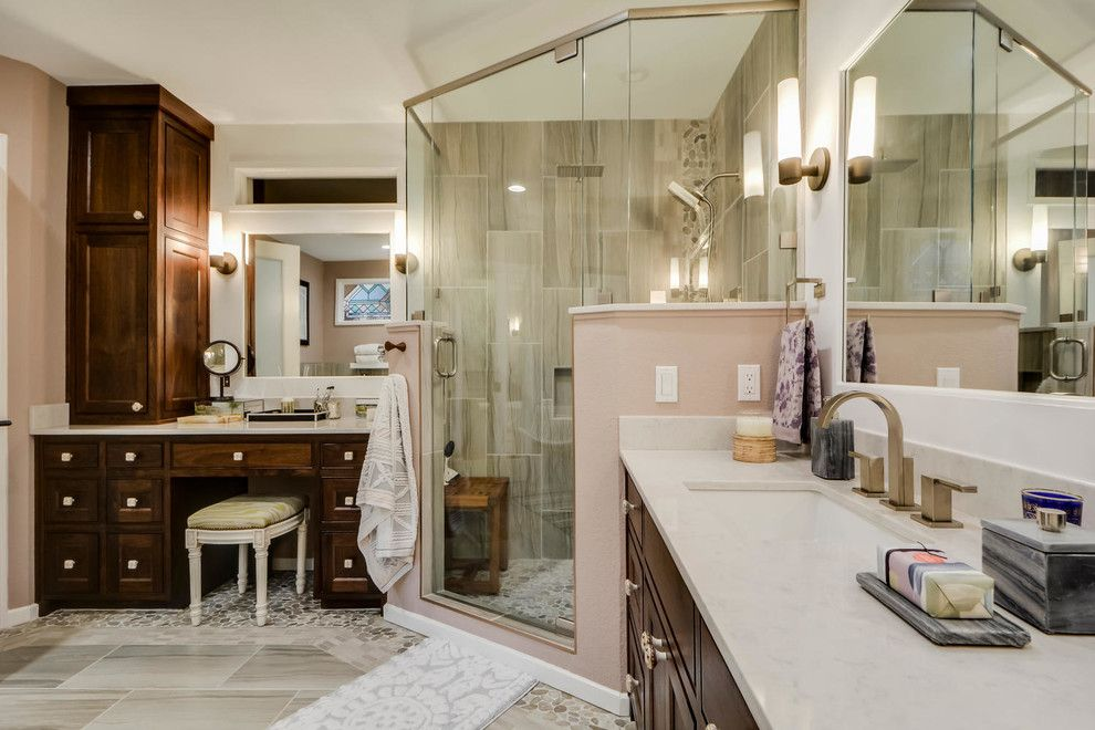 Turnstyle for a Contemporary Spaces with a Interior Design Details and Restful Retreat Master Bath by Turnstyle Design