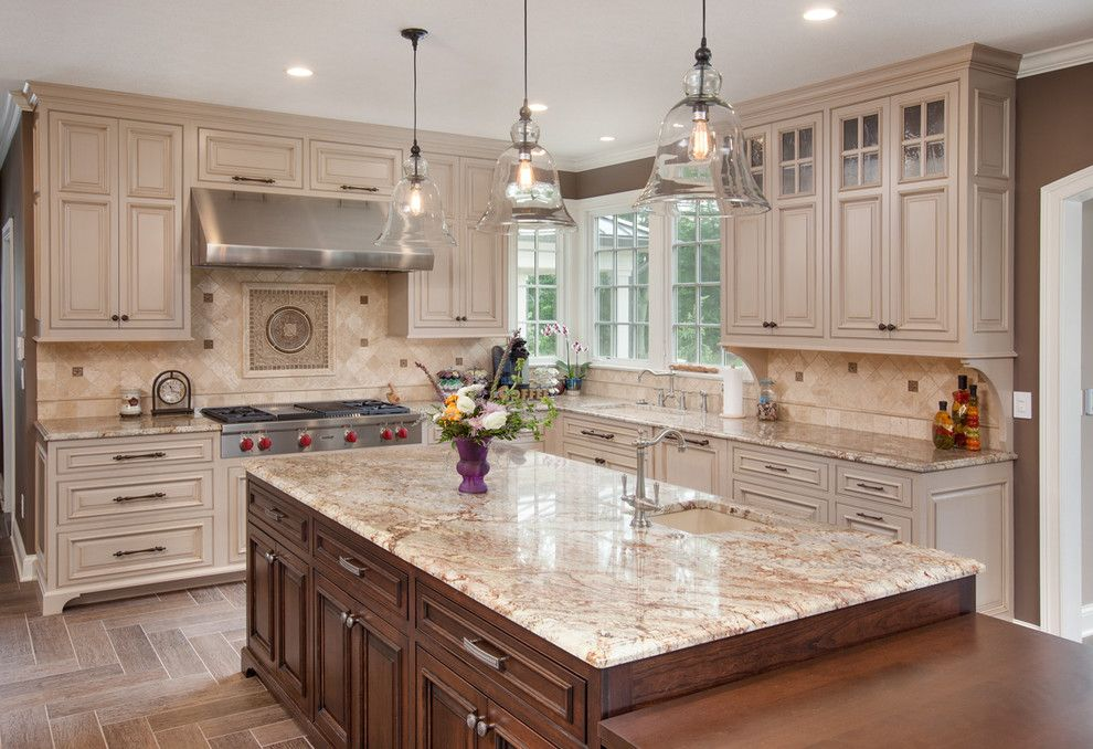 Typhoon Bordeaux for a Traditional Kitchen with a Kitchen Island and 2013 Whole House Remodel by Nicholson Builders