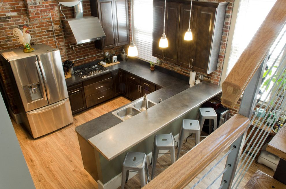 U Save Rockery for a Industrial Kitchen with a Charcoal Counter and Kitchen in Sandusky Home by Houzz.com