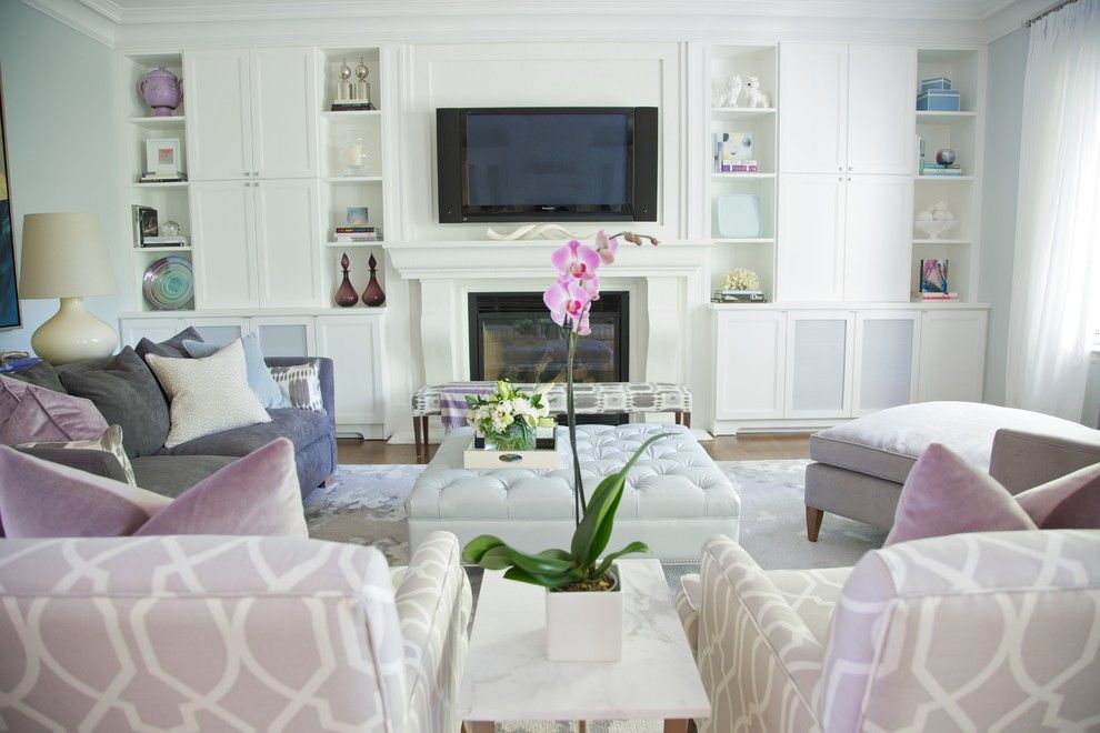 Ubuildit for a Contemporary Living Room with a Chairs and Cortleigh Blvd. by Barlow Reid Design
