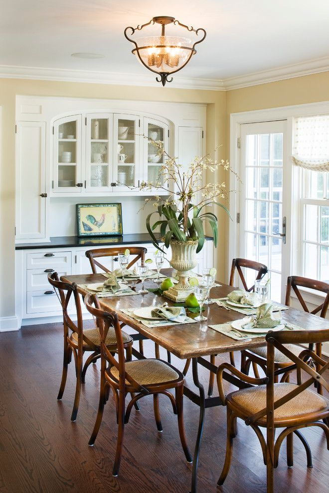 Ubuildit for a Traditional Dining Room with a Flatware and Westchester Residence by Zivkovic Connolly Architects