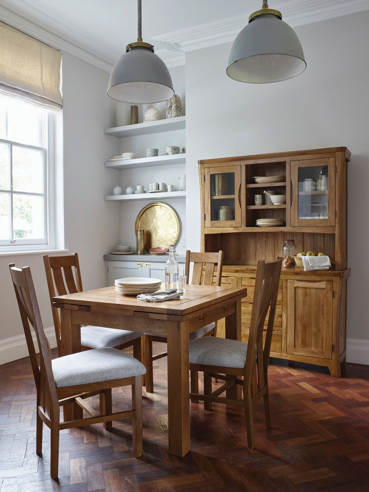 Unclaimed Freight Furniture for a Farmhouse Dining Room with a China Hutch and Orrick Dining Room by Oak Furniture Land