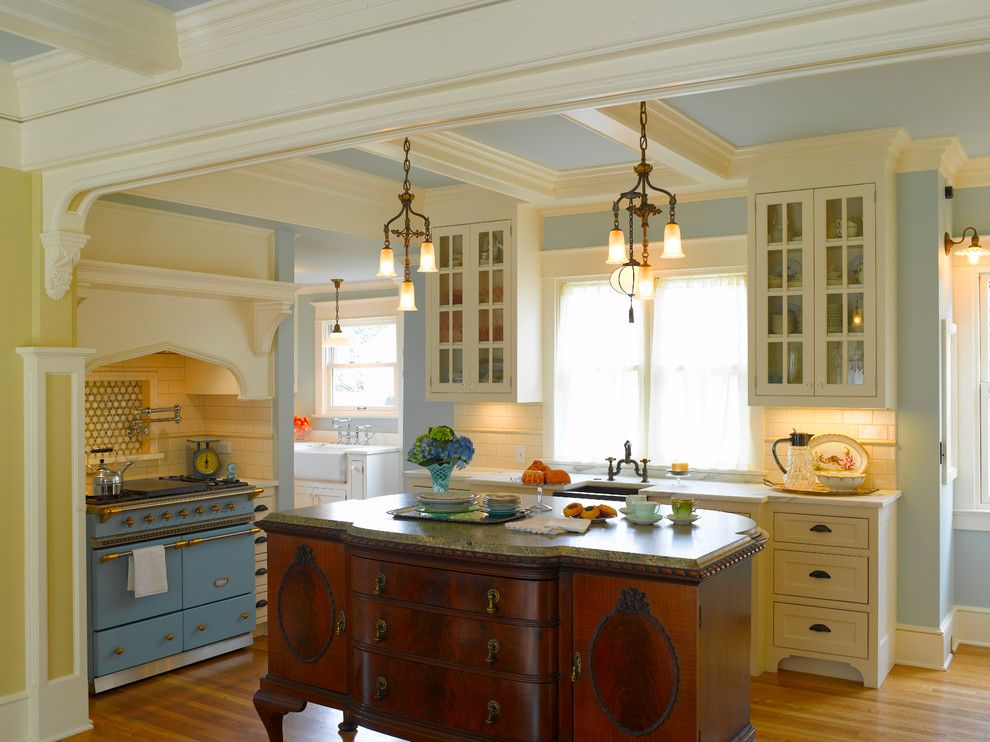 Unclaimed Freight Furniture For A Victorian Kitchen With A Repurposed And  Nob Hill: French Victorian