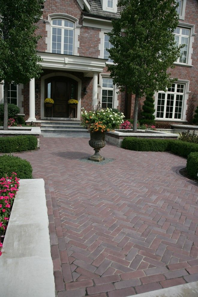 Unilock Pavers for a Traditional Landscape with a Brick Pavers and Unilock Brick Pavers by Jr's Creative Landscaping