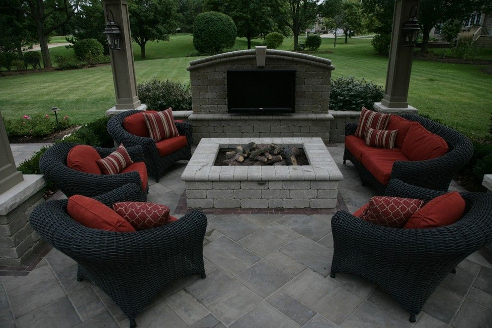 Unilock Pavers for a Traditional Patio with a Brick Pavers Naperville and Unilock Brick Pavers by Jr's Creative Landscaping