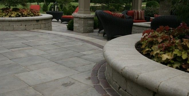 Unilock Pavers for a Traditional Patio with a Outdoor Kitchens Naperville Il and Unilock Brick Pavers by JR's Creative Landscaping