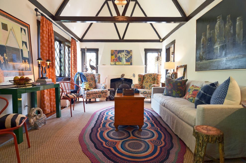 Urban Outfitters Rugs for a Eclectic Living Room with a Cottage and Fort Worth, Tx: Mike & Ann Williams by Sarah Greenman