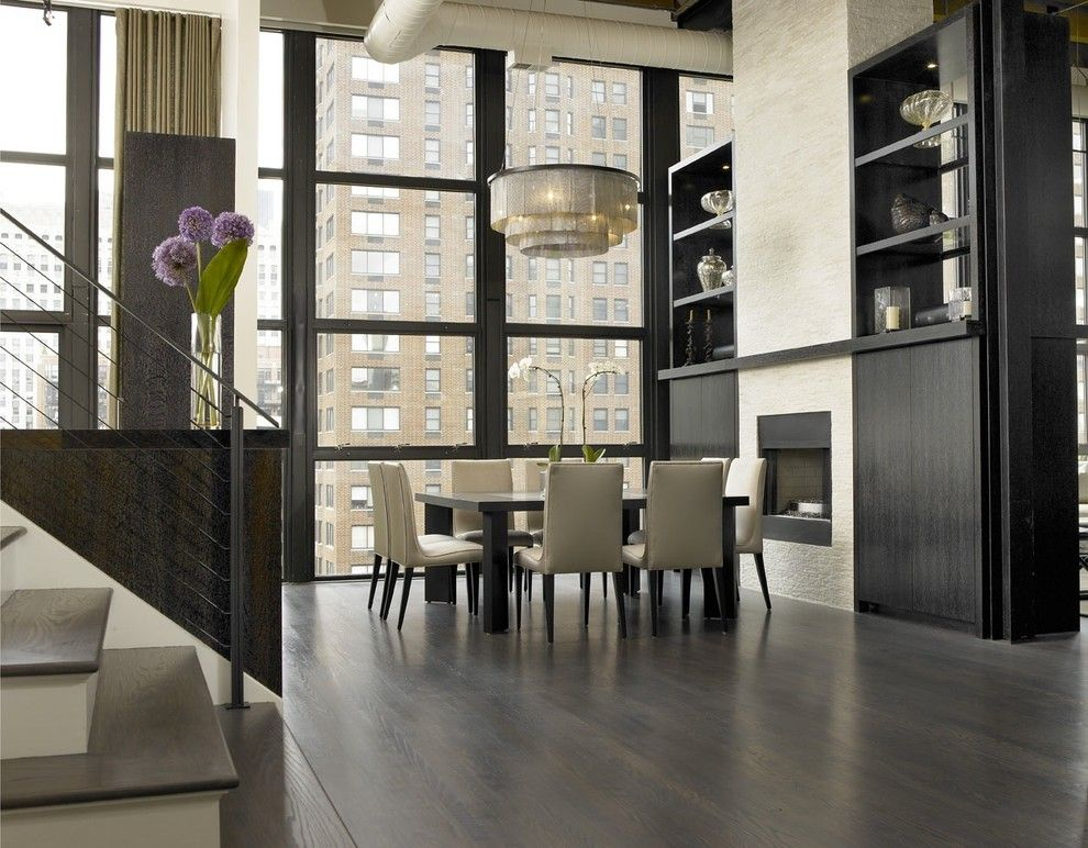 Urban Squared Realty for a Industrial Dining Room with a Neutral Colors and Jamesthomas, Llc by Jamesthomas Interiors