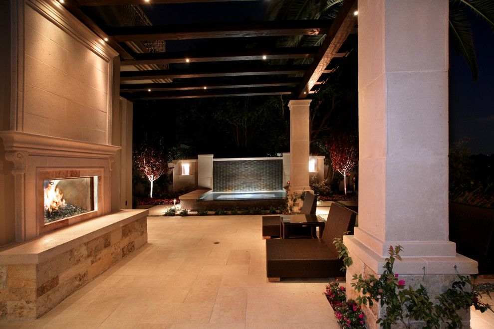 Urban Squared Realty for a Mediterranean Patio with a Column and Urban Landscape Design & Construction by Urban Landscape