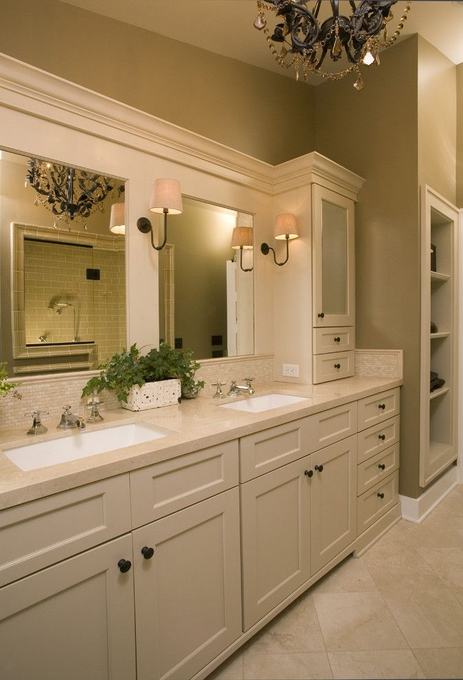 Us Cabinet Depot for a Traditional Bathroom with a Tile Flooring and Master Bath Retreat by Kayron Brewer, Ckd, Cbd / Studio K B