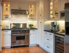 Us Cabinet Depot for a Traditional Kitchen with a Cabinet Lighting and Old Mill Park by Barbra Bright Design