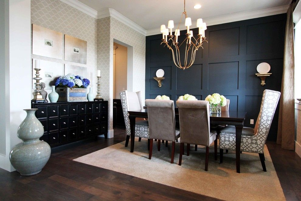 Uttermost for a Contemporary Dining Room with a Dark Wood Floor and Stiles Fischer Recent Projects by Nate Fischer Interiors