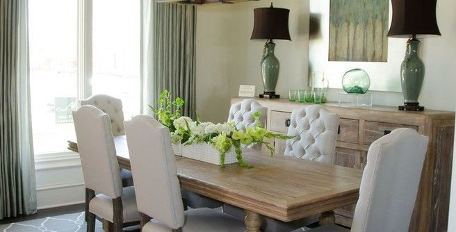 Uttermost for a Transitional Dining Room with a Roman Shades and Inspired Drapes From Budget Blinds by Budget Blinds