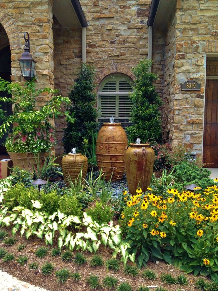 Valley Forge Flowers for a Mediterranean Landscape with a Tree and Memorial   Spring Valley by Designs by Elizabeth