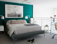 Valspar Paint Colors for a Contemporary Bedroom with a Master Bedroom and Master Bedroom – South Beach Apartment, Miami Beach by Diego Alejandro  Interior Design